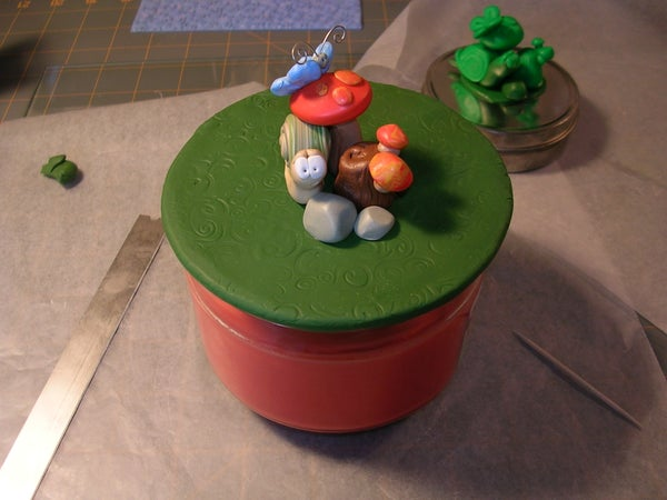 Make a Decorative Candle/Jar/Bowl Lid With Polymer Clay