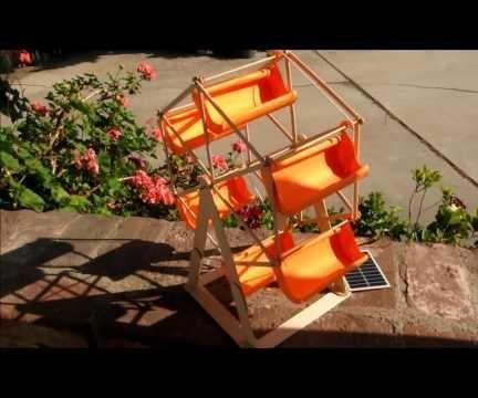 Solar powered Ferris wheel toy