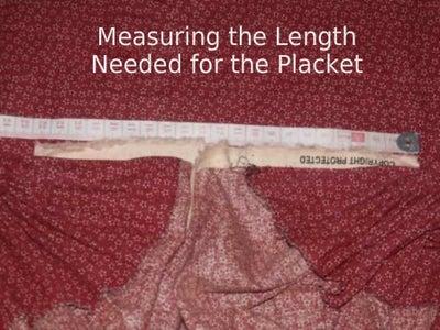 Adding the Skirt Placket