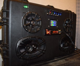 DIY Boombox With Car Stereo Head Unit