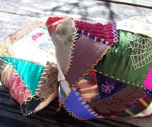 Hand Embroidered Crazy Quilt Pillows