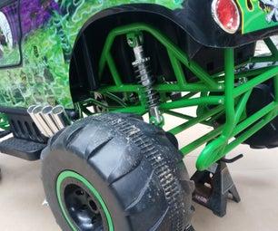 Soft Spring Upgrade on 24v Grave Digger Power Wheels