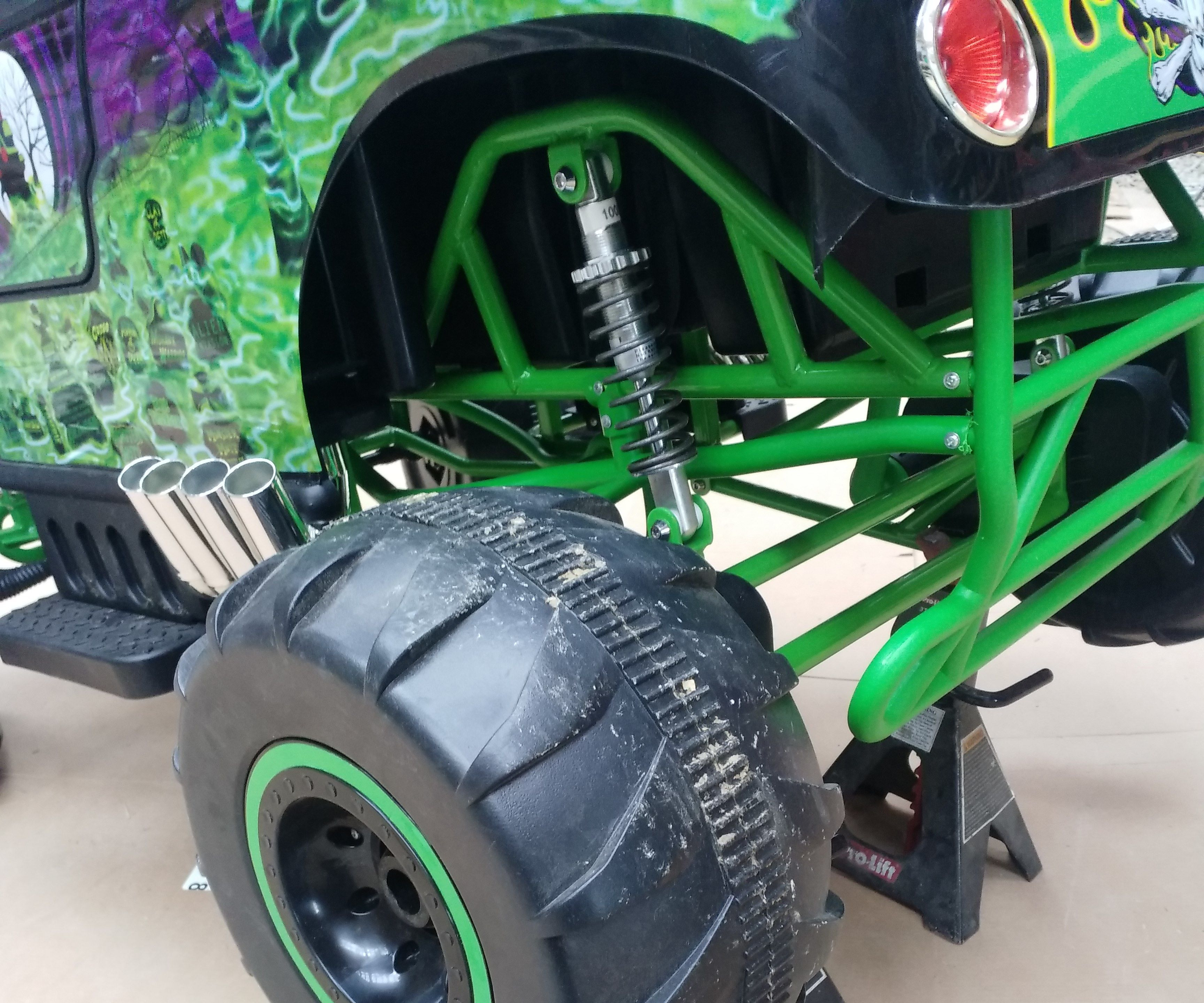 Soft Spring Upgrade On 24v Grave Digger Power Wheels 4 Steps With Pictures Instructables