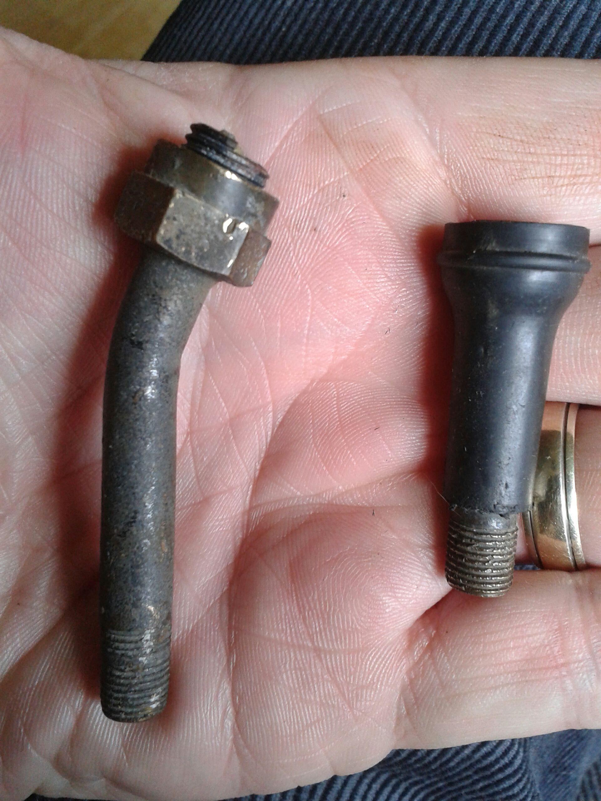 modifying a schrader tyre valve