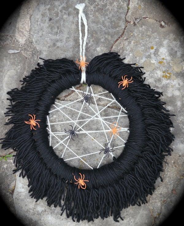 Spooky Yarn Wreath