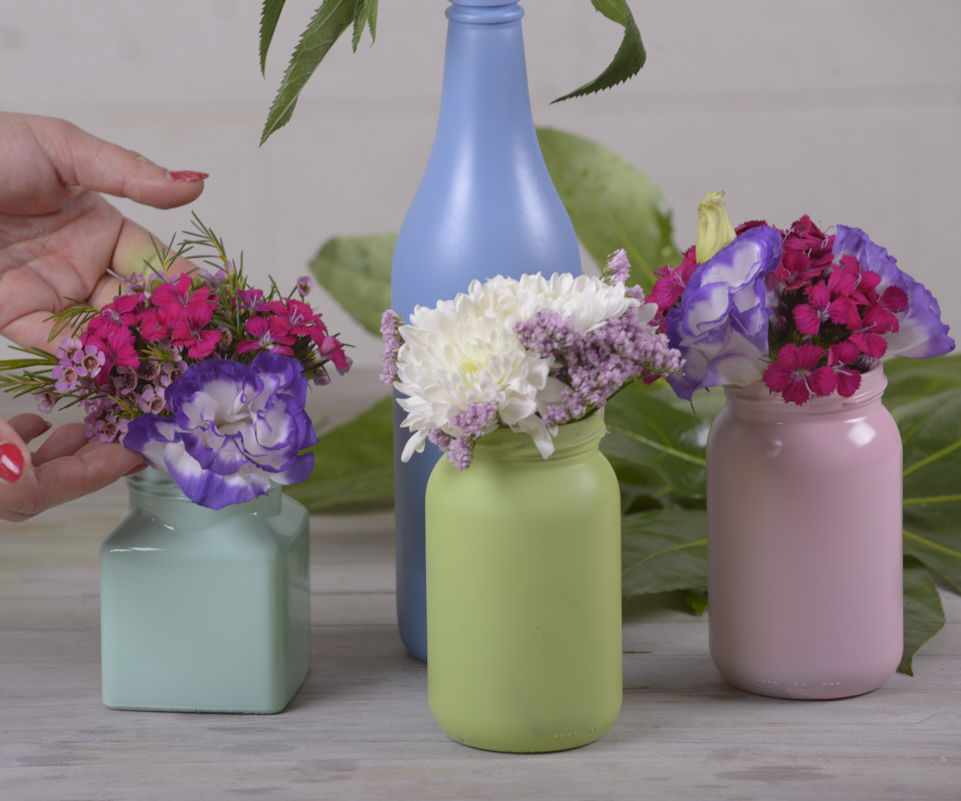 DIY With Flowers: Homemade Floral Centrepiece