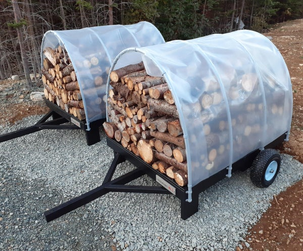 Holzwagen - Mobile Firewood Drying and Storage