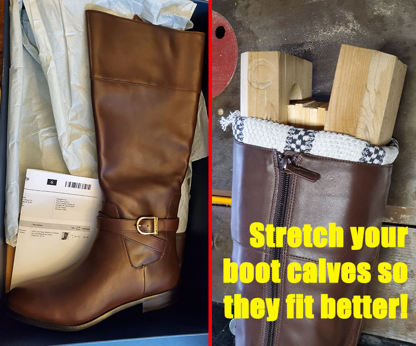 Stretch the Calves of Your Boots