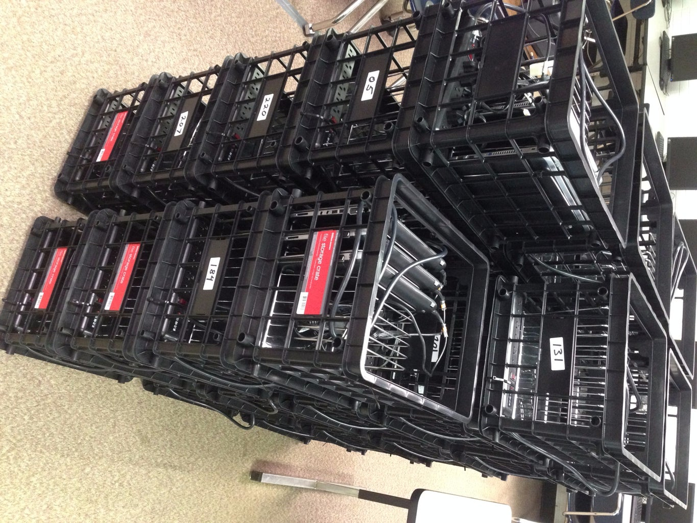 Laptop Charging Crate for Classrooms