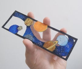 Faux-Glass Space Bookmark