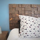Removable Wood Block Headboard
