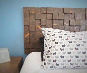 Removable Wood Block Headboard