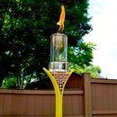 How to Make a DIY Tiki Torch From Snow Skis