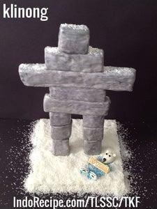 Balancing Rock Art (Inukshuk Cake)