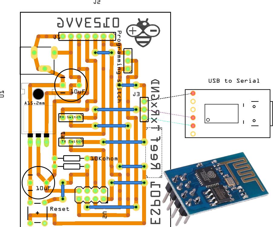 ESP-01 Module Programming Board