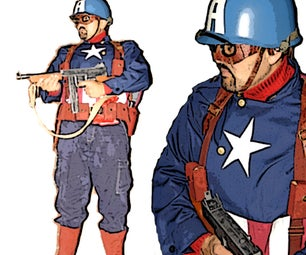 Ultimate WWII Captain America Costume (Marvel Comic Book Based)