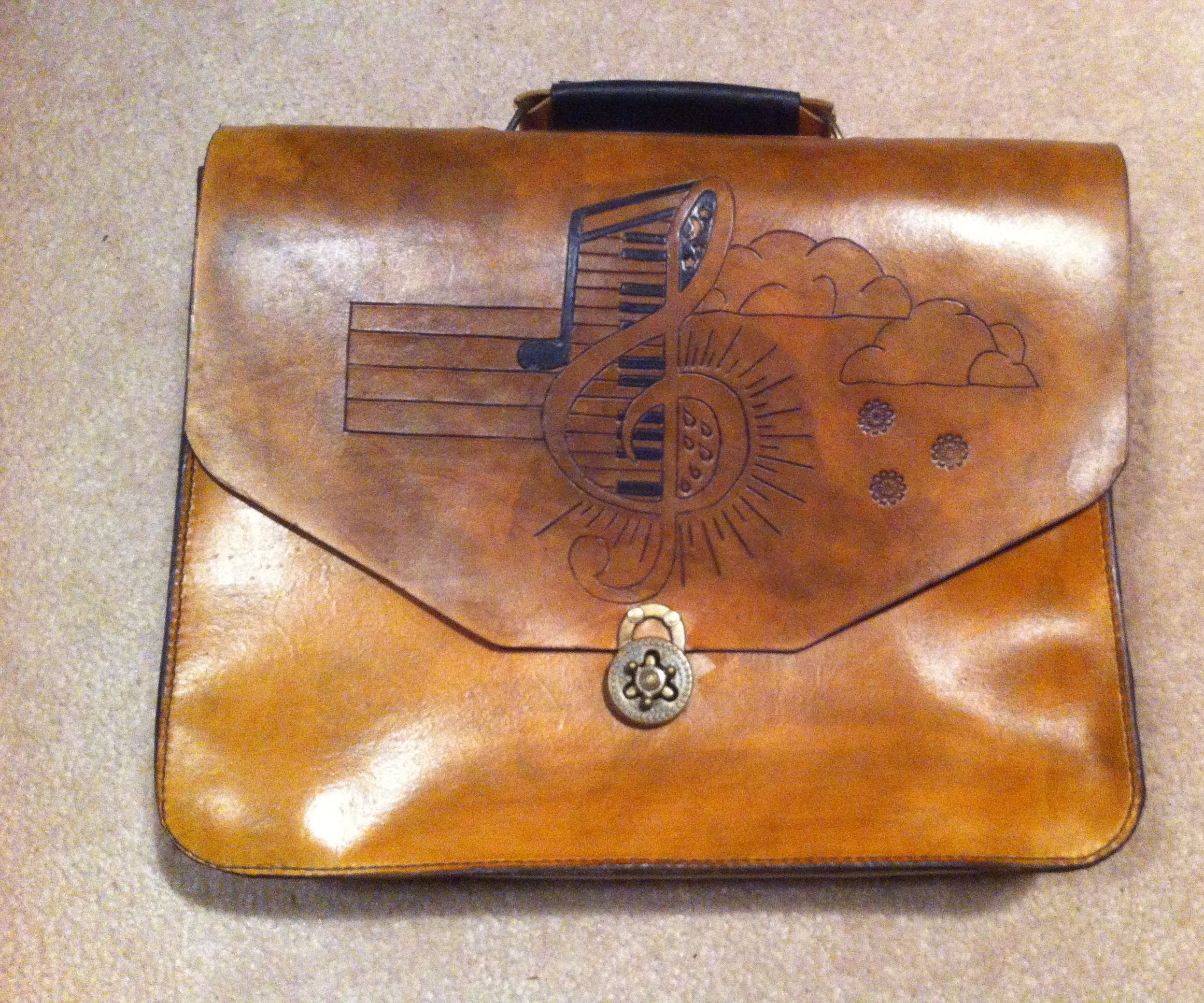 Leather Messenger Bag/Brief case