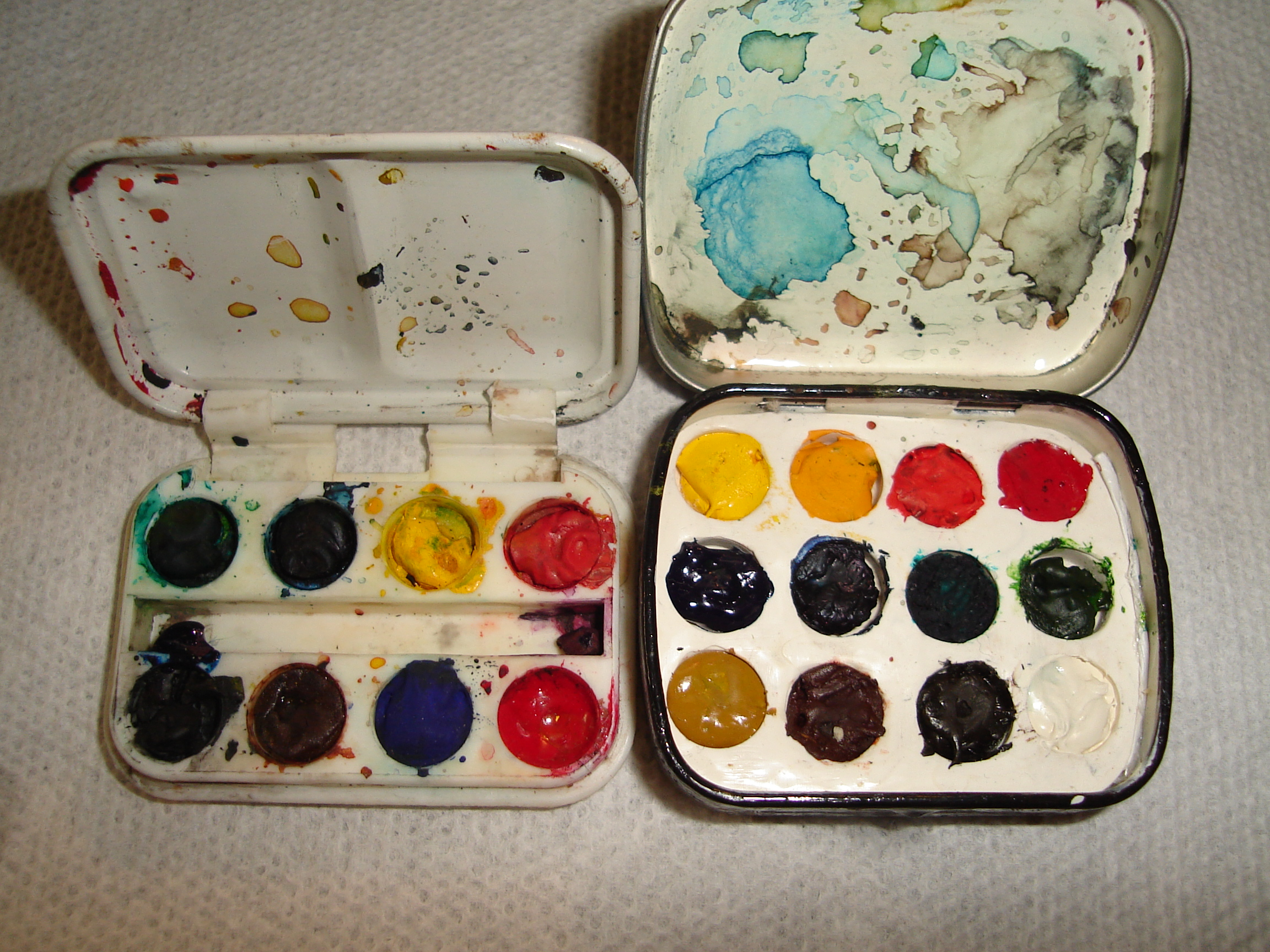 Altoids/mint tin mini watercolor paint box-NEW PROCESS!