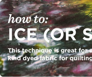 Ice (or Snow) Dyeing