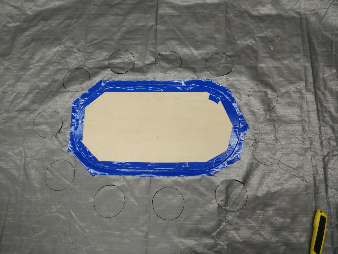 Attaching Board to the Bottom of Hover Craft