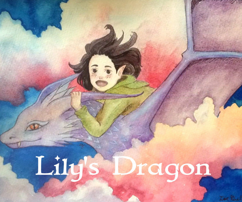Lily's Dragon (painting and Last Minute Gift Tutorial)