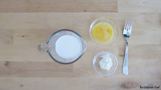 Mix Wet Ingredients in Measuring Cup