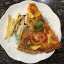 Homemade Pizza with Fries