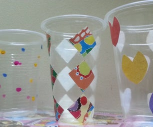 D.I.Y. Easy 3 Different Plastic Glass Holder/decor Piece