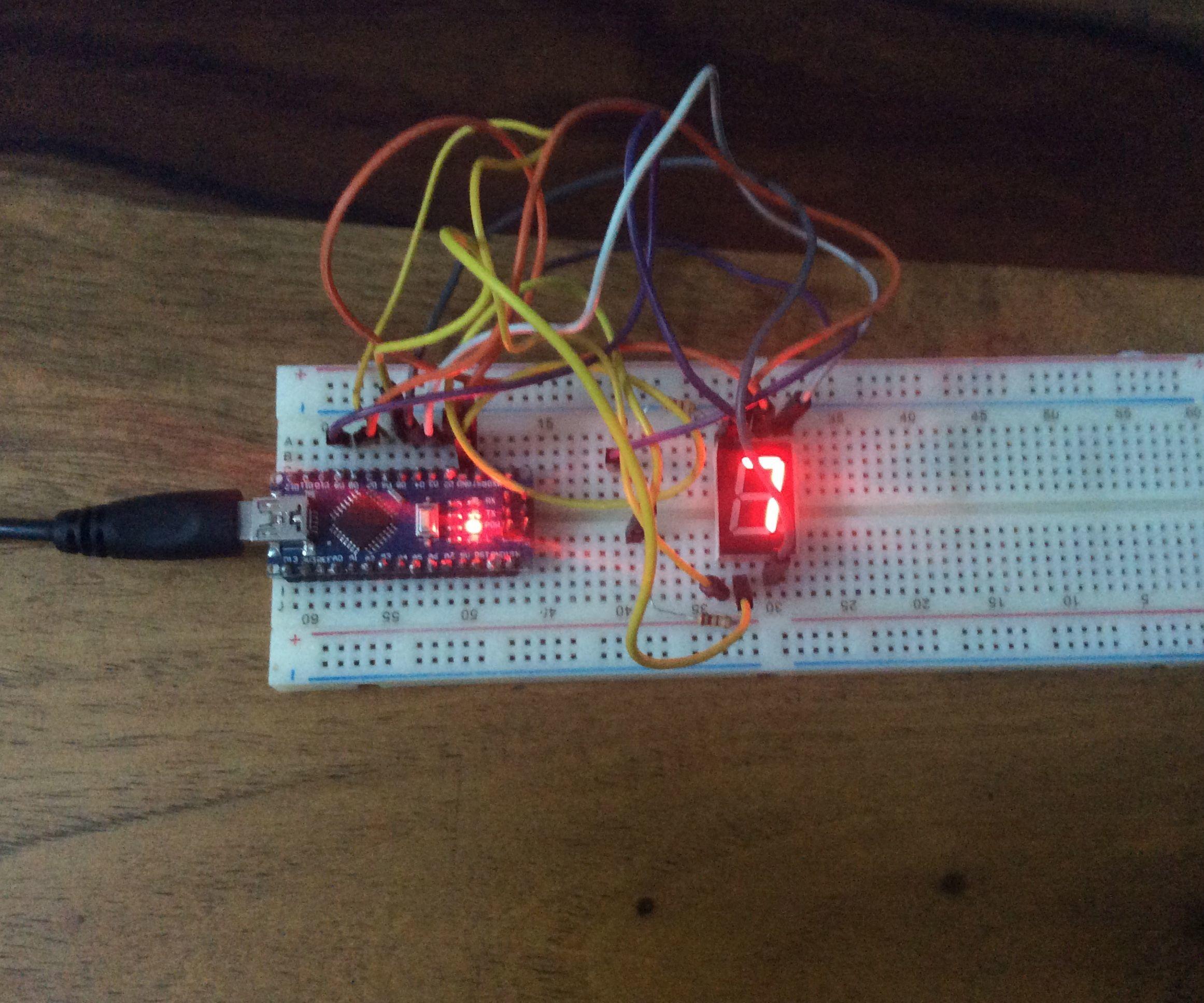 How to make a 0-9 counter using an Arduino Nano