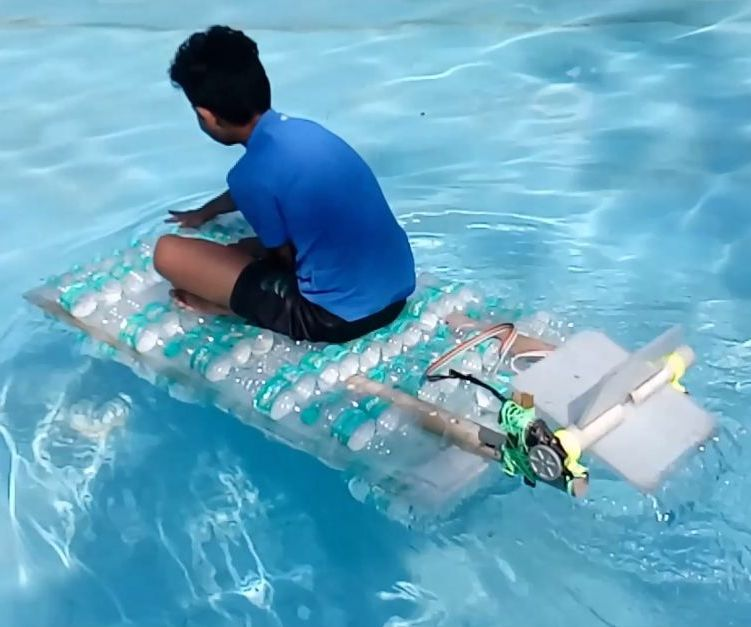 WaterBottle Cellotaped Together WaterBoat.