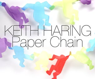 Keith Haring Paper Chain