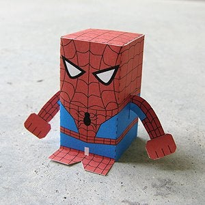 Paper Craft Spiderman Box Figure!