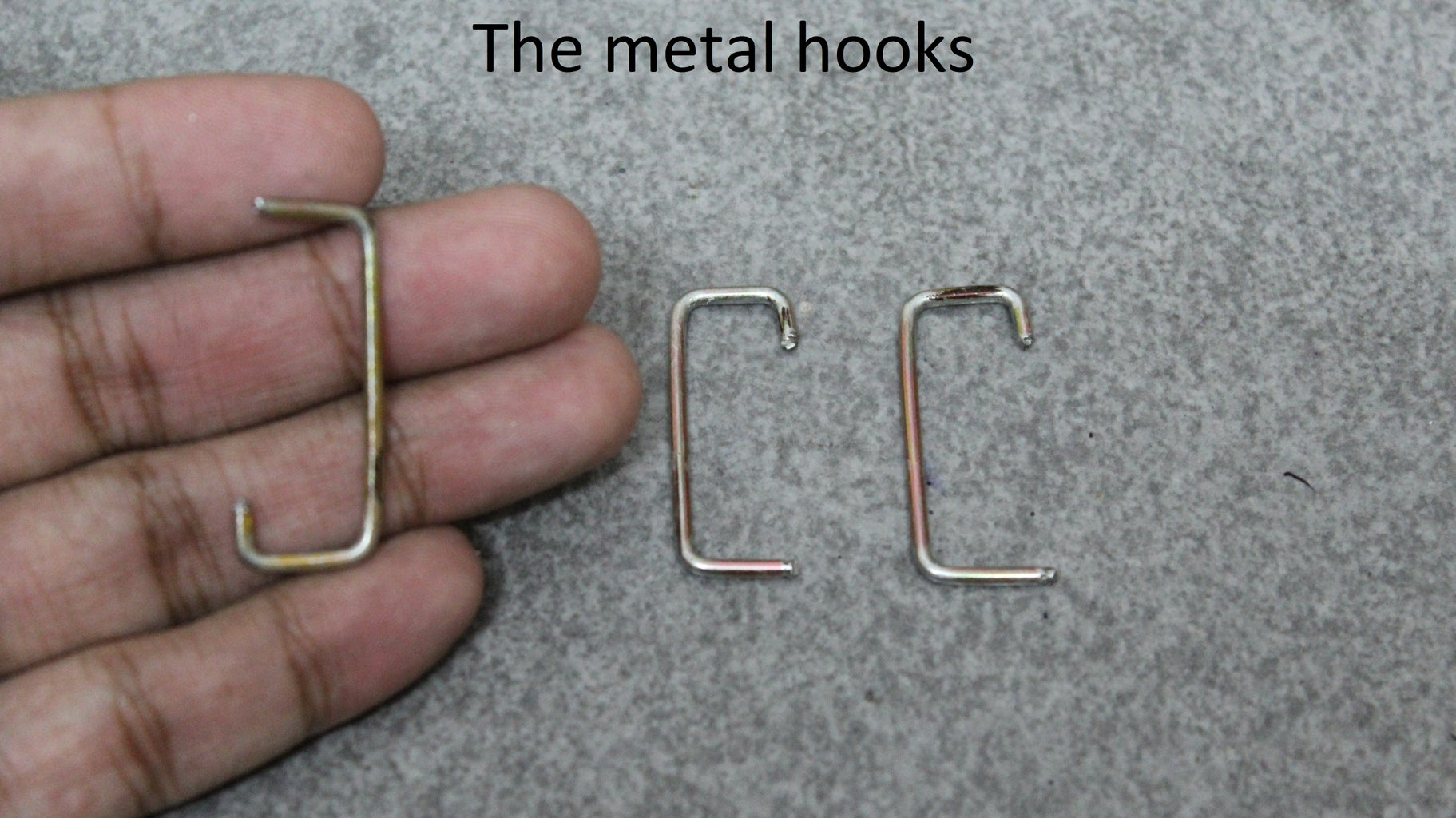 The Metal Hooks & Heat Sink Pieces