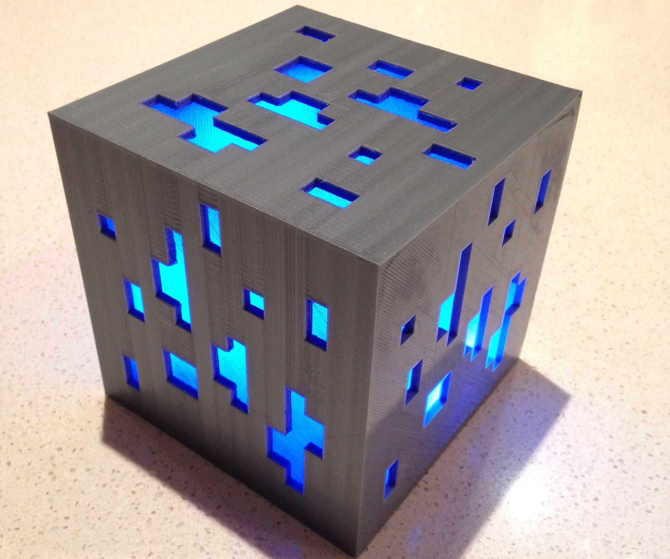 3D Printed Minecraft LED Ore Block