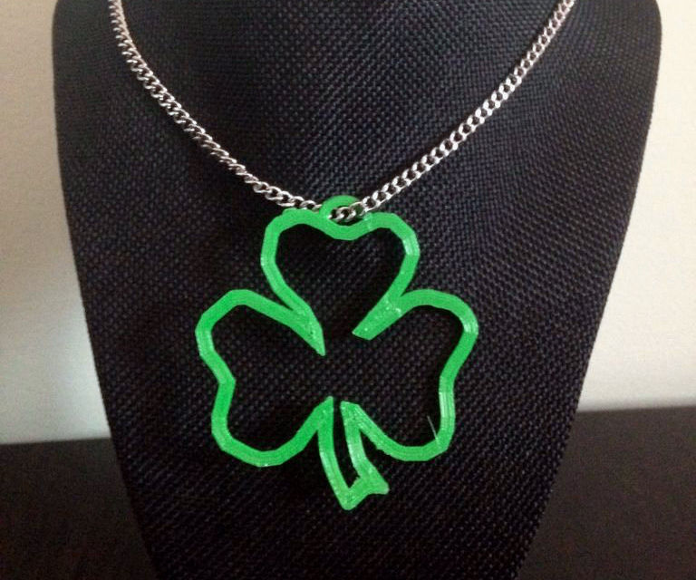 Saint Patrick's Day- 3D Printed Shamrock Pendant