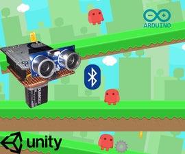 使用Unity,BT Arduino,超声波传感器运行跳跃游戏