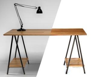 Folding Sawhorse Desk
