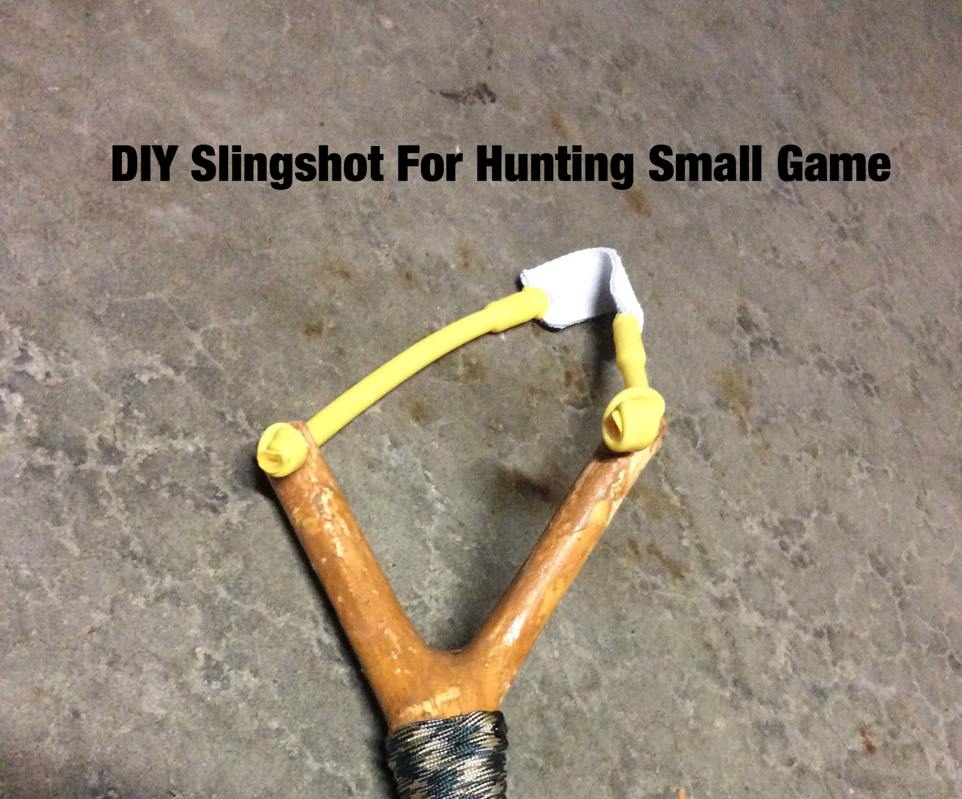 DIY Slingshot For Hunting Small Game !!!