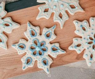 Decorative Snowflake Christmas Cookie Cutouts