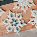 Decorative Snowflake Christmas Cookie Cutouts