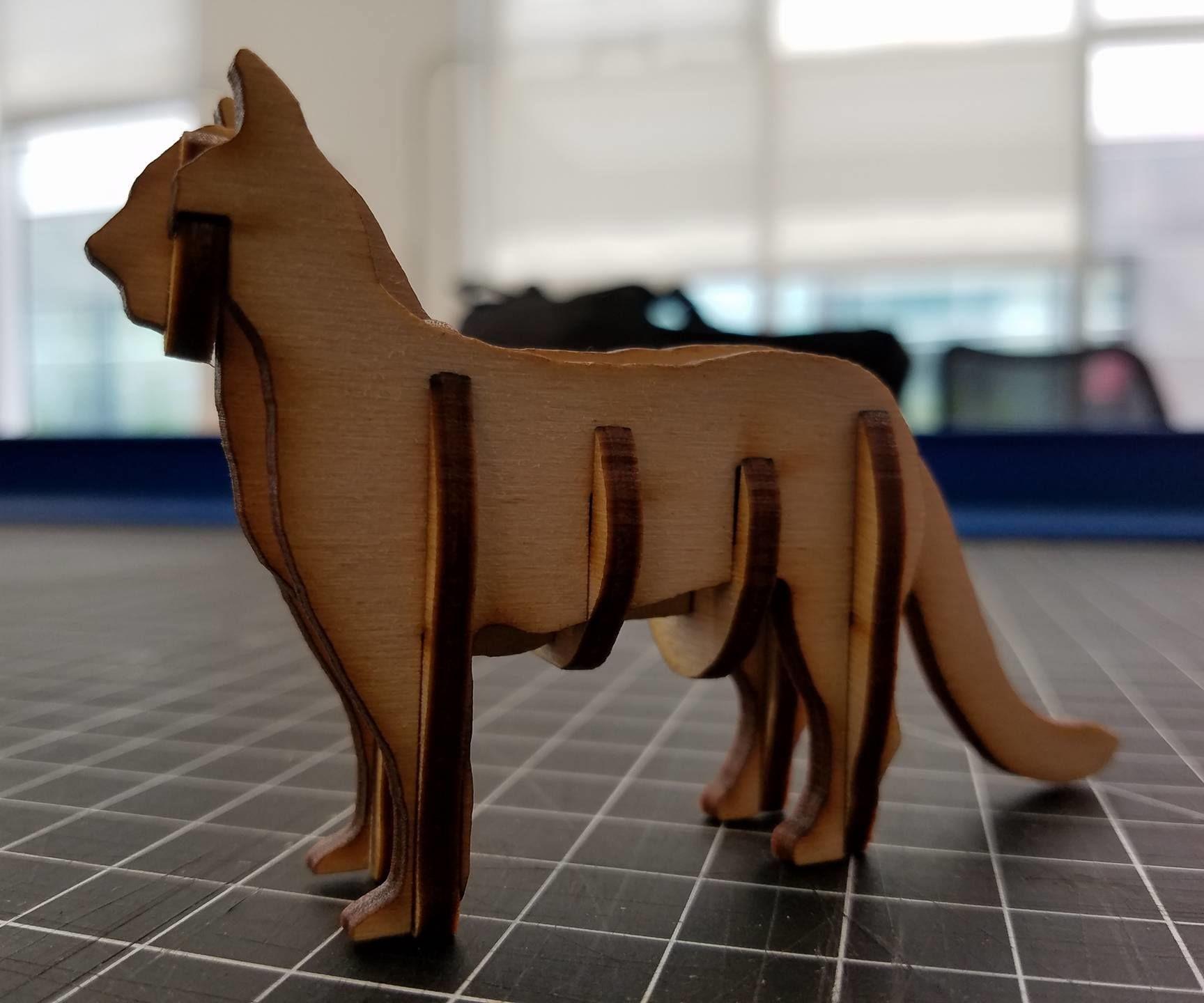 Laser Cut Cat