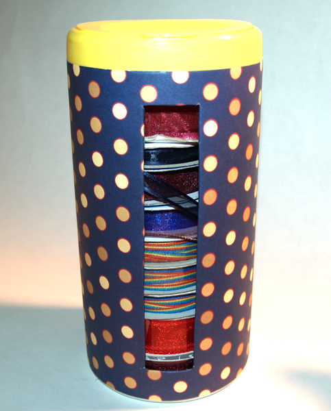 Recycled Ribbon Organizer
