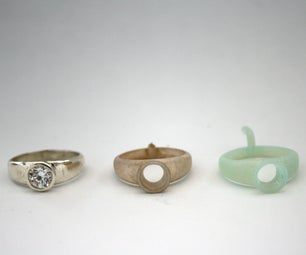 Casting From Autodesk Ember Printer - Design/Print (DWS550)-Ring