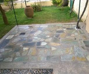 Custom Flagstone Backyard Patio