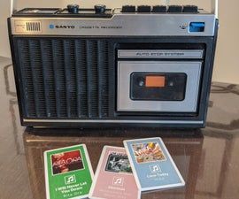 Old School Cassette Player With New School Cassettes