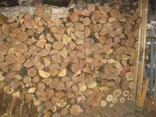 Basement Firewood Rack