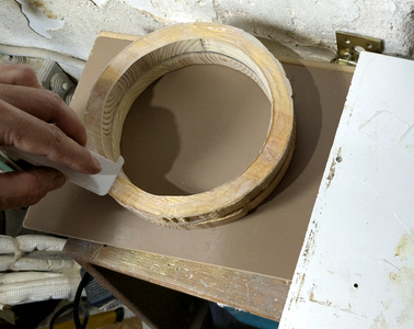Gluing the Empty Circles to the Oak Circle