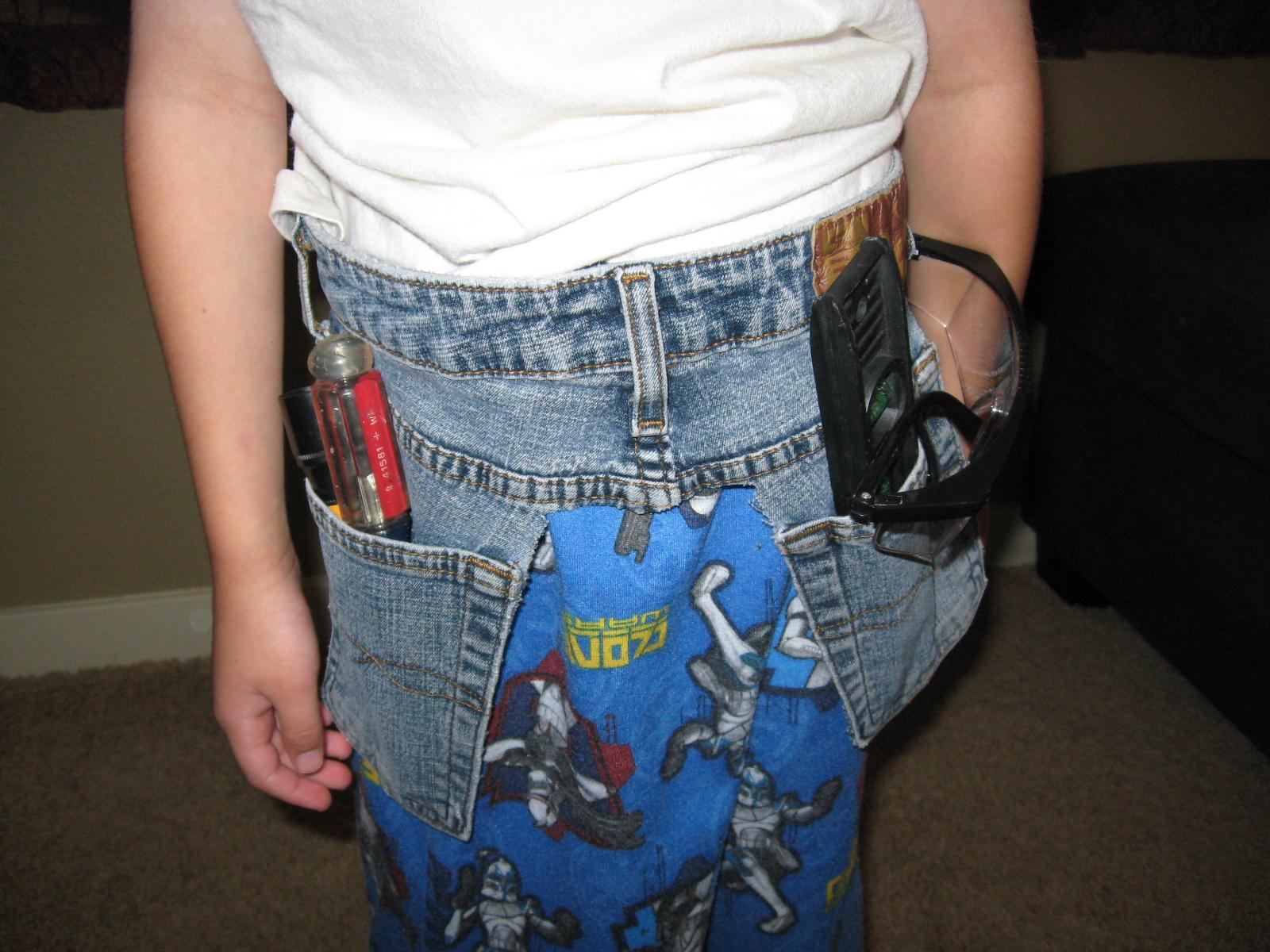 Super Easy Recycled Denim Tool Belt for Boys & Girls