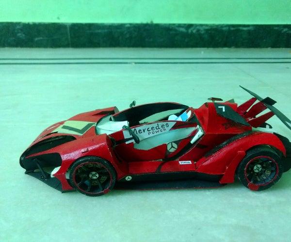 MERCEDES Paper Car.