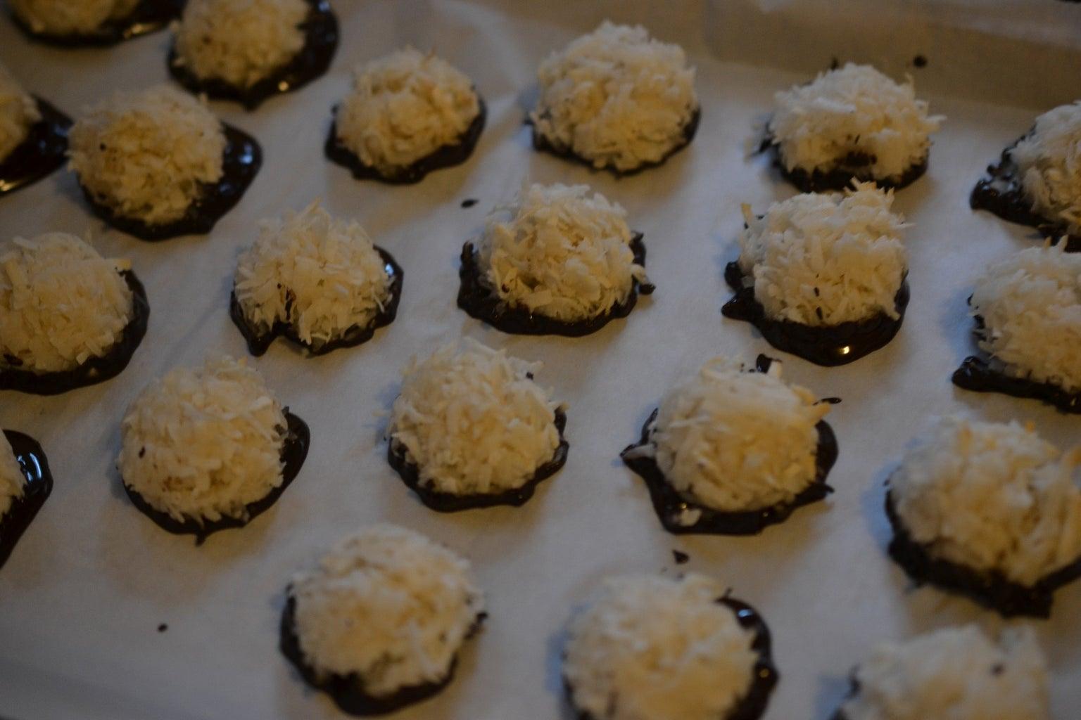 Dip Coconut Macaroons in Chocolate